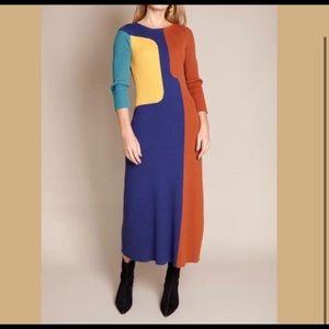 Mara Hoffman Rishima Colorblock Sweaterdress S
